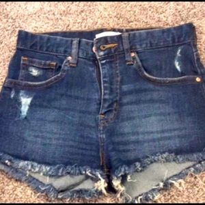 NWOT H&M Distressed Jean Shorts